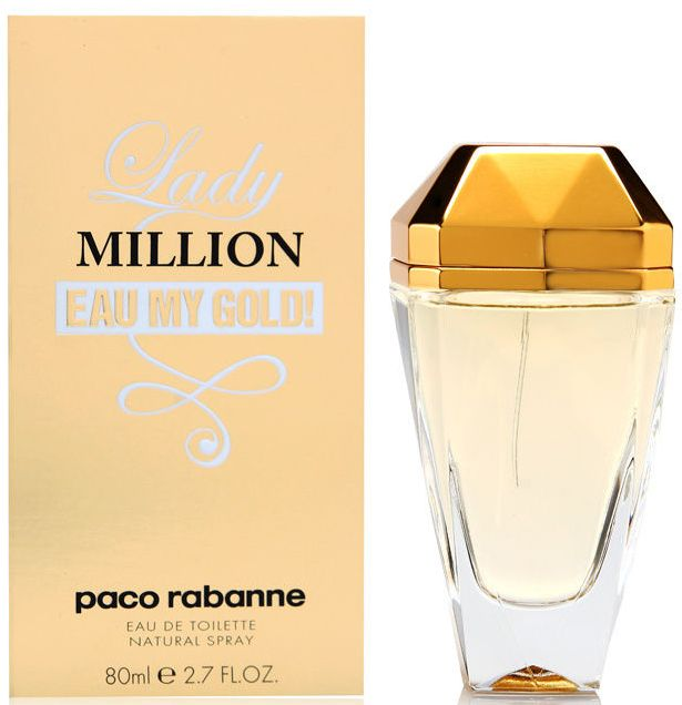 ДЛЯ ЖЕНЩИН Paco Rabanne Lady Million Eau My Gold EDT 80 ml для женщин
